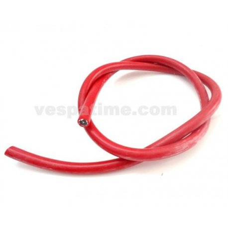 Cavo candela in silicone rosso