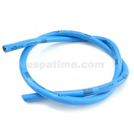 Spark plug cable blue silicone
