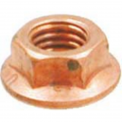 Flanged nut, coppered M7 for Vespa exhaust manifold