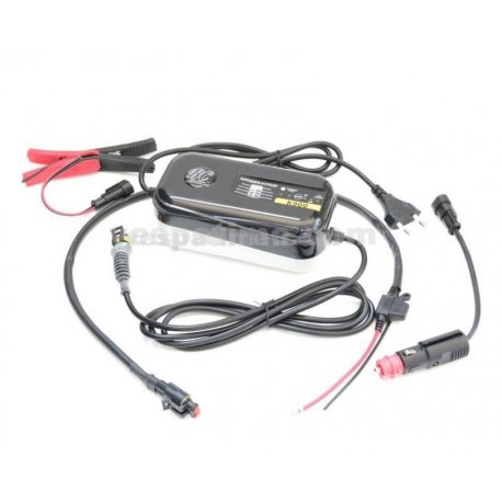 Battery charger 6/12 volts multicycle with microprocessor to charge, preserve and test all lead-acid batteries