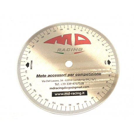 Degree disc MD RACING for ignition advance adjustment - D.170mm