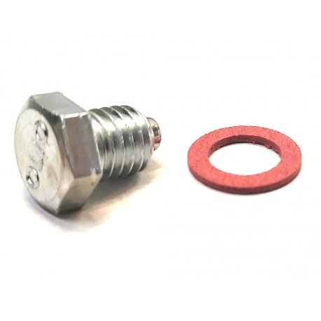 Oil drain plug M8 x 8mm with magnet and written oil - MD RACING
