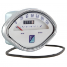 Odometer PIAGGIO fan-shaped with scale numbering 120 km/h for vespa gs 160, gs 150 vs5t, 180 ss