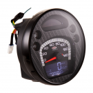 Odometer with digital revolution indicator vespa px 125-150-200 arcobaleno, '98, my - CARBON LOOK face