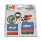 Kit bearings and oil seals for overhauling crankshaft specific for vespa 125 primavera/et3, oil seal clutch side viton