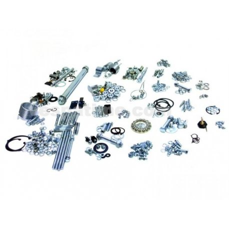 Kit nuts and bolts chassis engine consisting of 300 pieces for vespa 125 vnb1t→vnb6t, 150 vba1t, 150 vbb1t→vbb2t