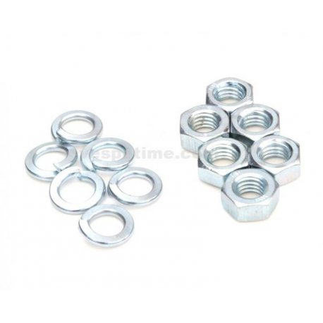 Kit 6 nuts + 6 spring washers for wheel rim, m8 hexagon 11