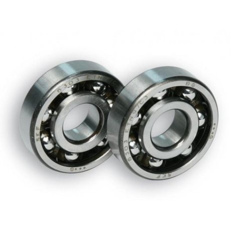 Pair of ball bearings malossi 6303 etn9/c3 17-47-14 clutch side vespa 50/90/125primavera/et3, 50/125 pk all.
