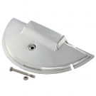Cover protection spare wheel chrome steel for vespa px/pe
