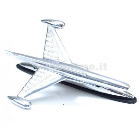 Chrome decoration aeroplane shaped for front mudguard vespa