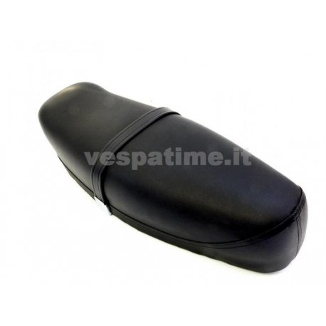 Two-seater saddle black vespa 125 et3 with lever and sheet metal bottom, adaptable to vespa 50. nisa