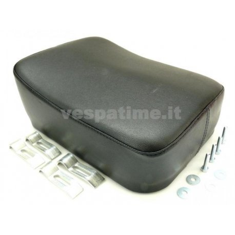 Rear cushion black rectangular for luggage carrier from 1959. specific for our product p048