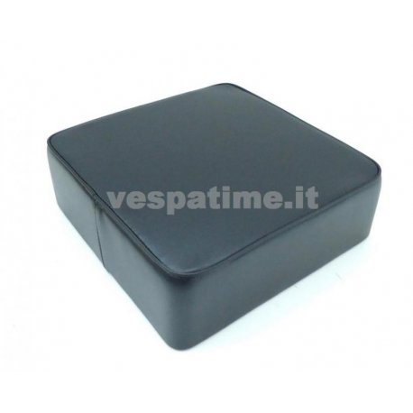 Rear cushion black flat square for vespa 125 bacchetta