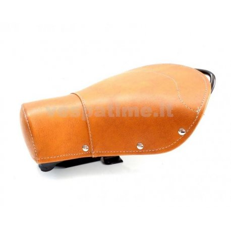 Single-seater saddle set brown, for vespa 125 vnb1t/6t, 150 vba1t, vbb1t/2t, gl, super, sprint.