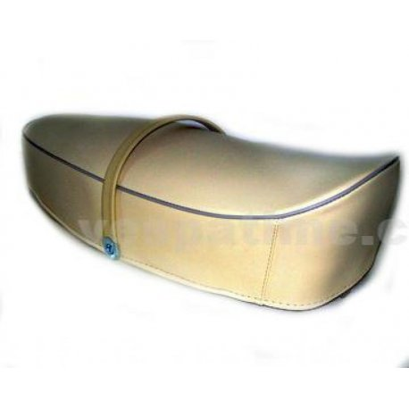 Two-seater saddle cream colour vespa 125 primavera vma1t→2t, adaptable to vespa 50. spaam