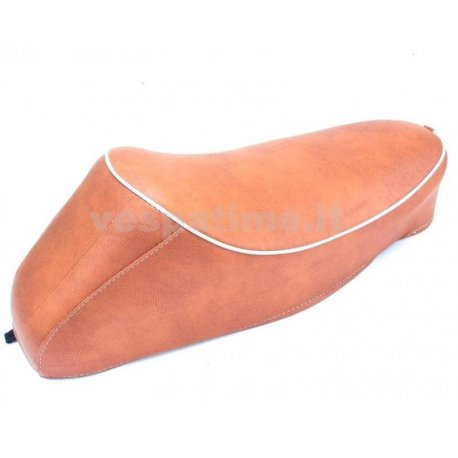 Saddle with hump for vespa 50 special, r, l, elestart. customised colour brown