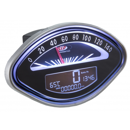 Odometer with digital revolution indicator vespa vba-vbb-gl-gs-sprint-gt-ss, black face