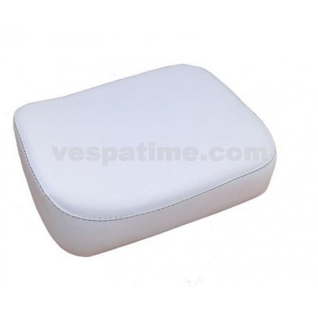 Rear cushion white rectangular for luggage carrier from 1959. specific for our product p049