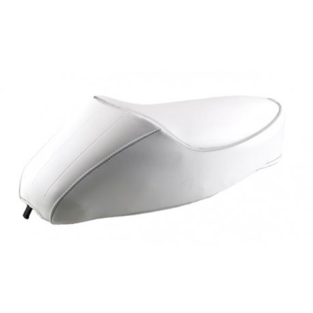 Saddle with hump for vespa 50 special, r, l, elestart. customised colour white