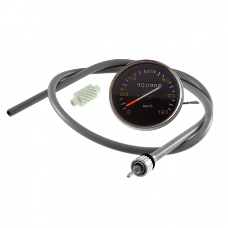 Odometer for vespa px/pe first series, with chrome ring