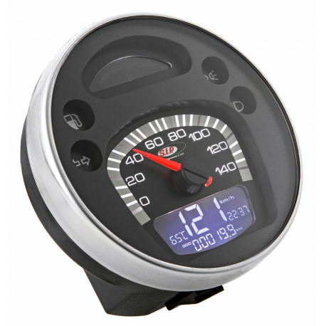 Odometer with digital revolution indicator vespa px 125-150-200 arcobaleno, '98, my - black face