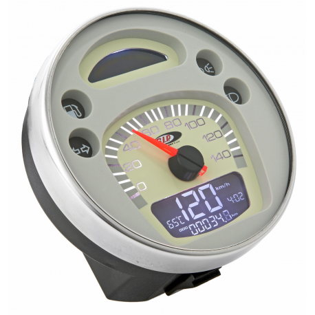 Odometer with digital revolution indicator vespa px 125-150-200 arcobaleno, '98, my - white face