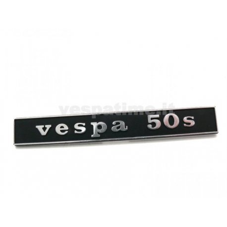 "Rear emblem ""vespa 50s"" metal for vespa 50"