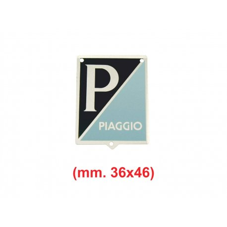 "Shield ""piaggio"" aluminium with 3 holes for vespa 125 vn1t→2t, 125 vna1t→vna2t"