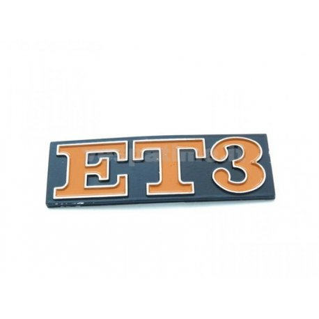 "Rear emblem ""et3"" metal"