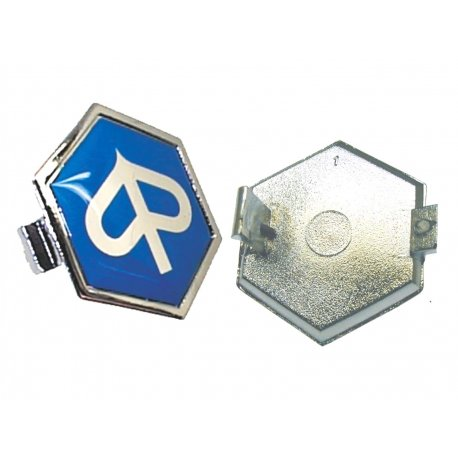 """Shield """"piaggio"""" hexagonal 31 mm resined slot-in for vespa px all arcobaleno"""