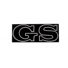 "Side emblem ""gs"" metal for export models"