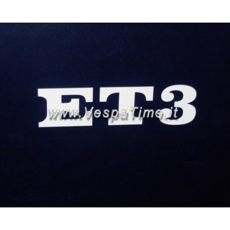 "Emblem ""et3"" transfer to stick at the rear of the saddles"