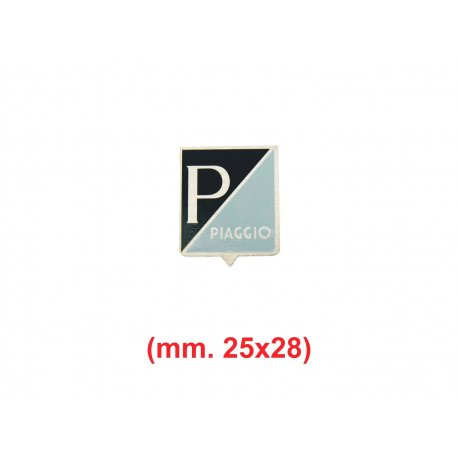 "Shield ""piaggio"" aluminium square logo for vespa 50 from 1963→67, 50ss, 90, 90ss, 125 nuova"