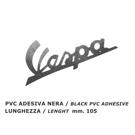 "Emblem ""vespa"" for vespa125 vnb4t from chassis 135618 until 125 vnb6t, dark blue adhesive"