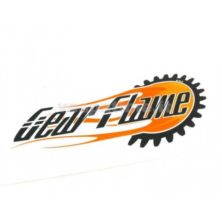 Gear flame sticker. length 155mm, height 85mm