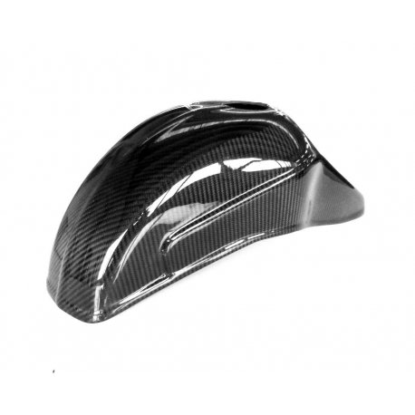 Carbon mudguard for vespa with fork zip-quartz