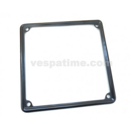 Frame number plate steel black for new registration plates dimensions 180mmx180mm