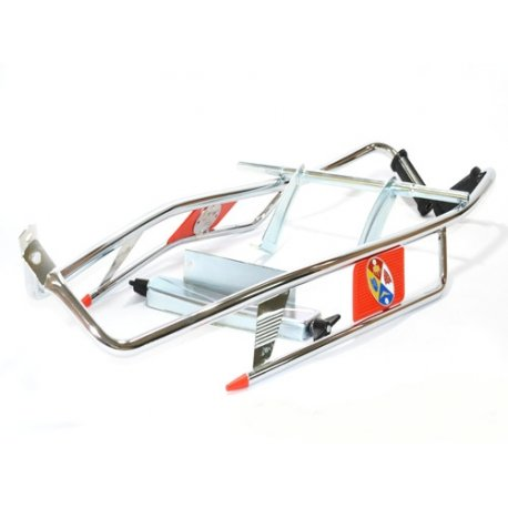Chrome-plated crash bar sidepanel/red Vespa VNA, VNB, VBA, VBB, SUPER, GT-GTR-TS, SPRINT, 160GS, 180SS, RALLY