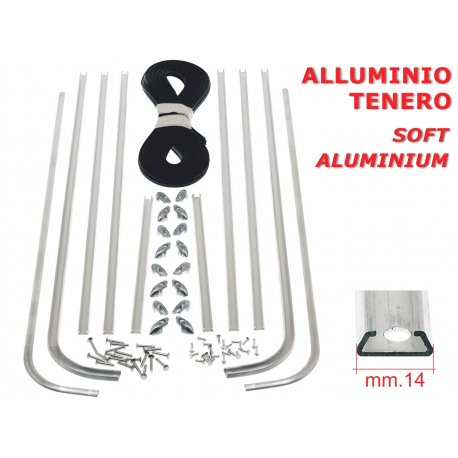 Kit strips floorboard vespa 125 vna1t from chassis 68031, 125 vna2t, 125 vnb1t, 125 vnb2t, handcrafted, top quality