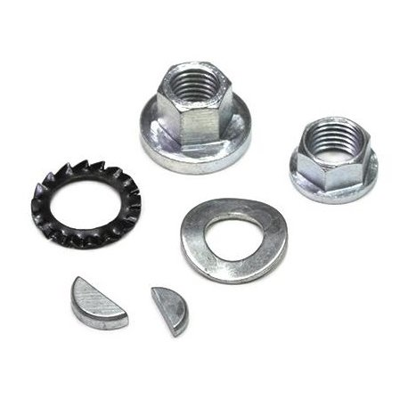Nut, washer, woodruff key, crankshaft, flywheel and clutch kit for vespa