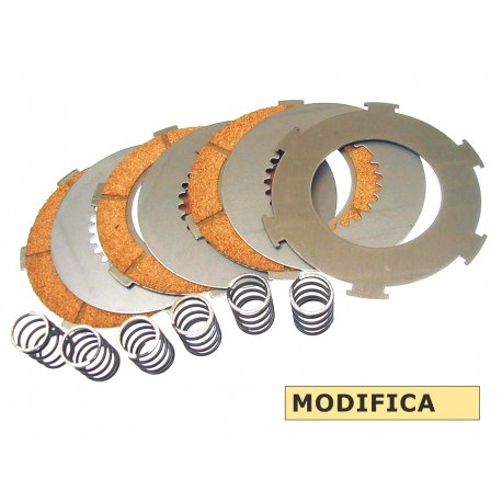 7-disc clutch set with 6 hardened springs for vespa