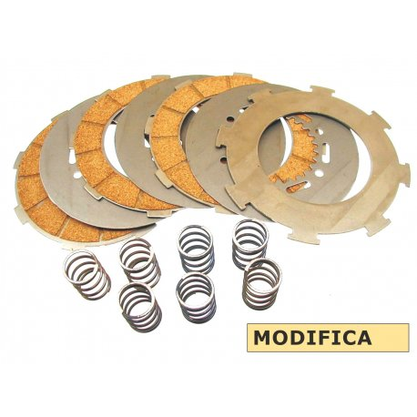 7-disc clutch set with 7 hardened springs for vespa