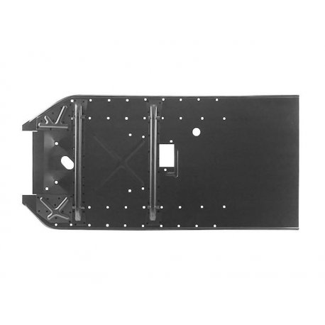 Repairsheet floorboard for vespa 50/90, 90 cm long with holes for floorboard strips rubber