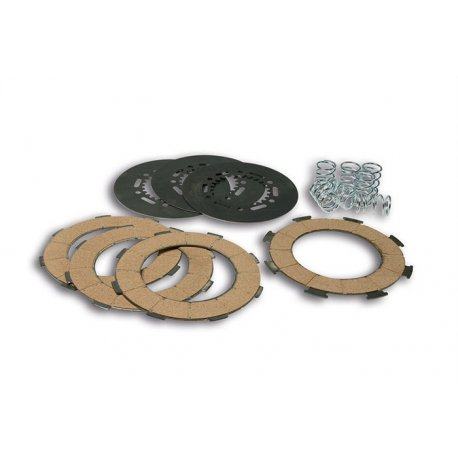 Set clutch malossi, with cork discs, driven plates, and 7 reinforced springs