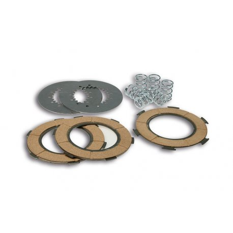 Kit clutch plates malossi with 7 discs and 6 reinforced springs for vespa largeframe