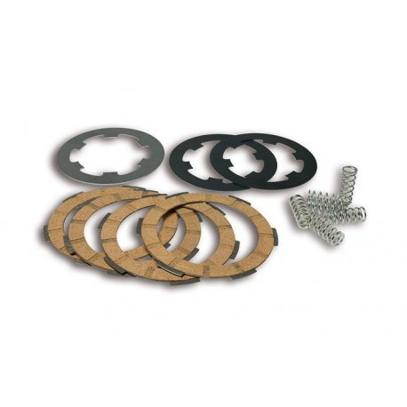 Kit clutch plates malossi with 7 discs and reinforced spring for vespa largeframe