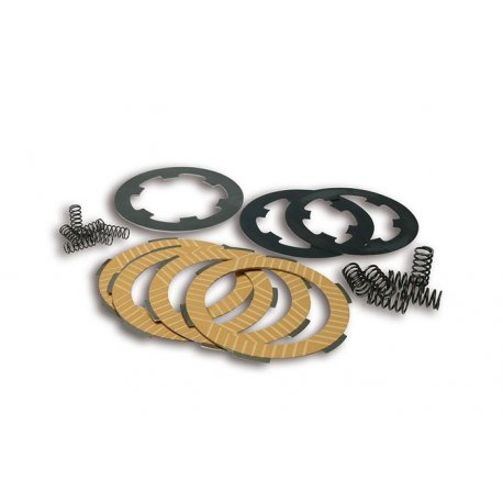 Kit clutch plates malossi with 7 discs and 6 reinforced springs for vespa smallframe