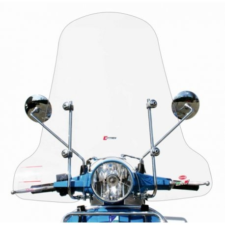 Windscreen for vespa px with fittings