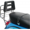 Black painted rear luggage carrier with back rest for vespa px