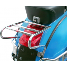 Chrome-plated rear holder top case for vespa px
